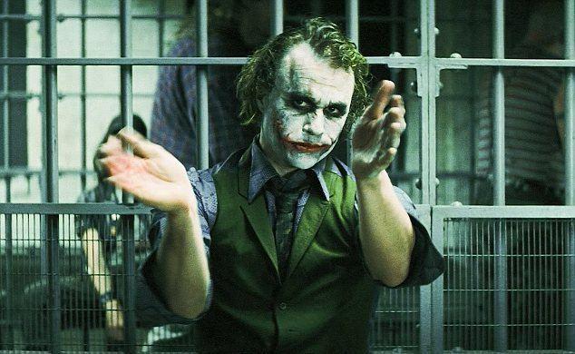 Dark Floors movie scenes Art imitates life Heath Ledger s Joker in jail during a scene in 2008 hit The