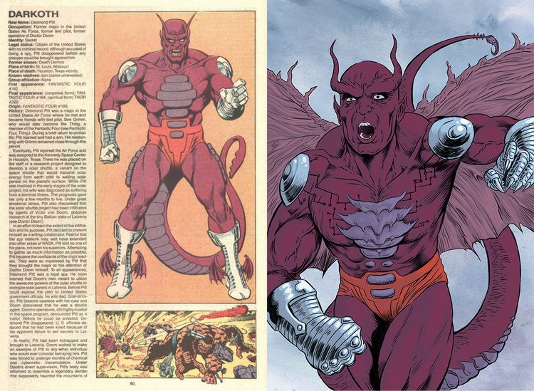 Darkoth The Official Handbook to the Marvel Universe REDUX Edition