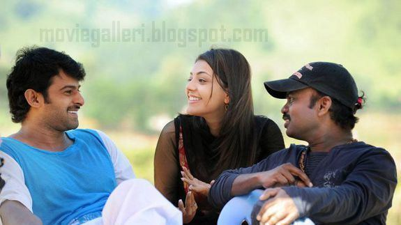 Darling (2010 film) Starring Prabhas & Kajal with an unknown person talking to each other