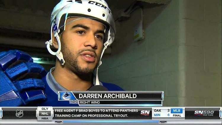 Darren Archibald Canucks Prospect Darren Archibald HD YouTube