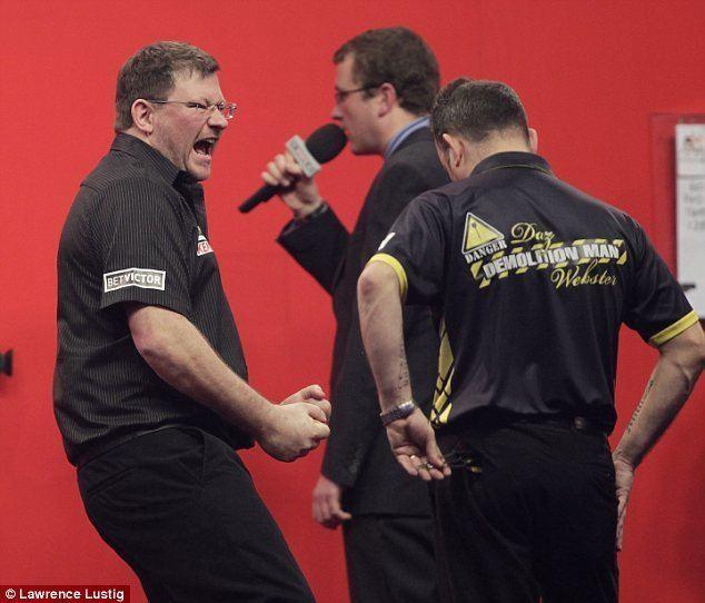 Darren Webster James Wade enjoys lucky break after Darren Webster loses