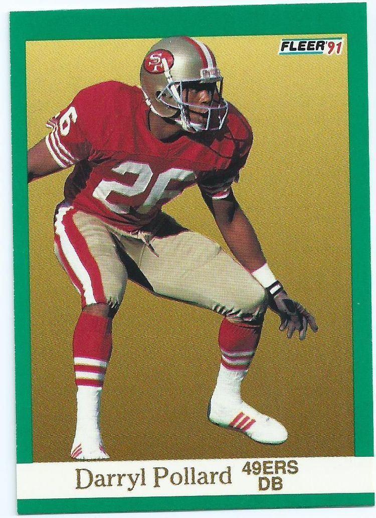 Darryl Pollard SAN FRANCISCO 49ers Darryl Pollard 361 1991 Fleer Collectable NFL
