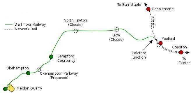 Dartmoor Railway DR Line Guide Dartmoor Railway Supporters Association Okehampton