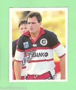 Daryl Halligan 1993 SELECT RUGBY LEAGUE STICKER 5 DARYL HALLIGAN NORTH SYDNEY