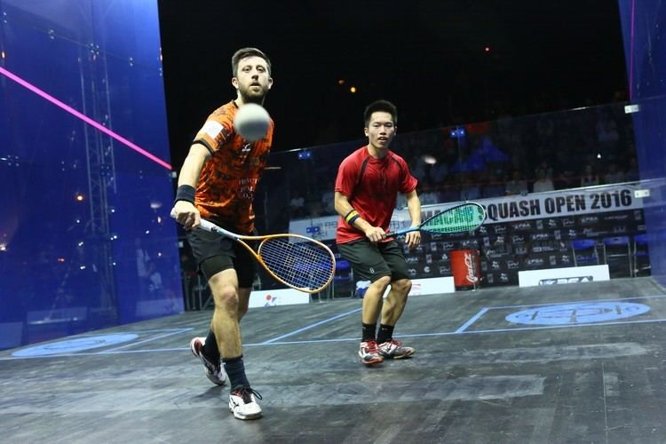 Daryl Selby Squash Mad Daryl Selby and Joelle King are Macau champions