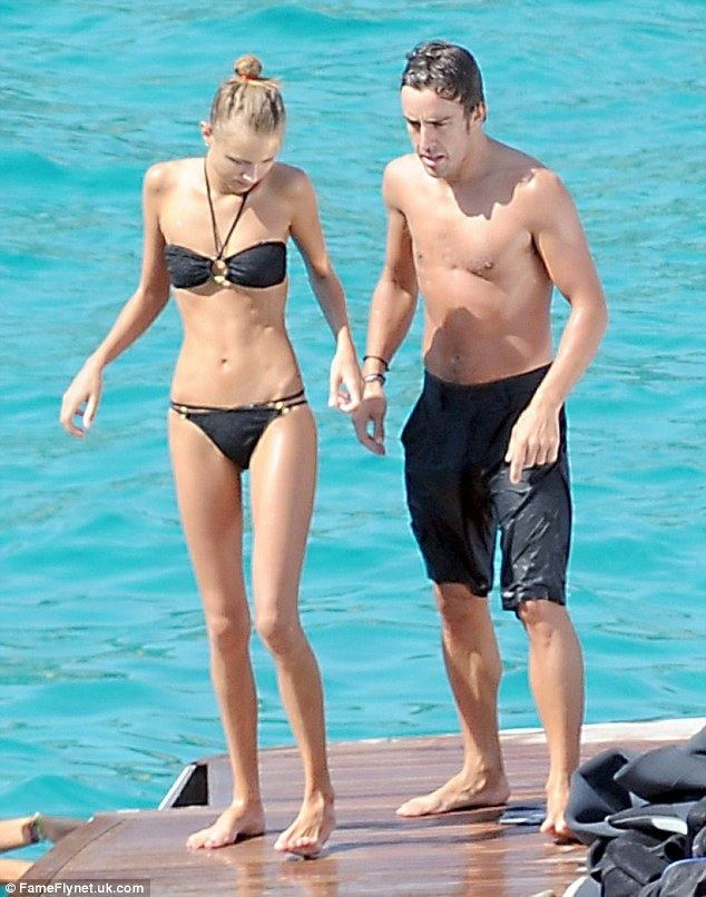 Dasha Kapustina Fernando Alonso gets to grips with his stunning girlfriend
