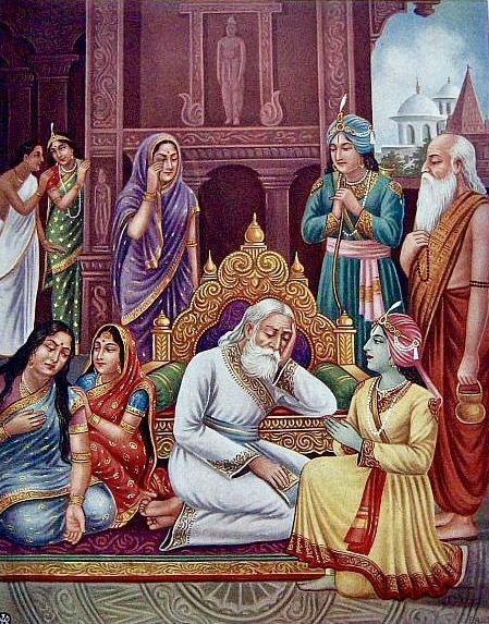 Dasharatha FileKing Dasharatha grieves inconsolably at his obligation to