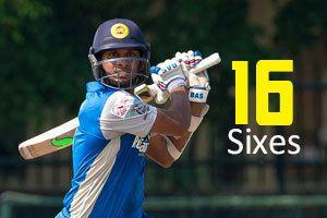 Dasun Shanaka Cricket Dasun Shanaka Slams 16 Sixes For New Sri Lanka Record