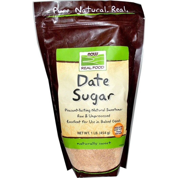 Date sugar Now Foods Real Food Date Sugar 1 lb 454 g iHerbcom