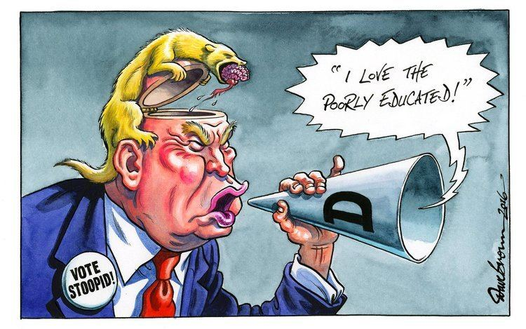 Dave Brown (cartoonist) Dave Brown on Twitter My cartoon for todays Independent Trump
