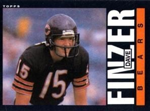 Dave Finzer Football Card of Dave Finzer 82 is Issued DePauw University