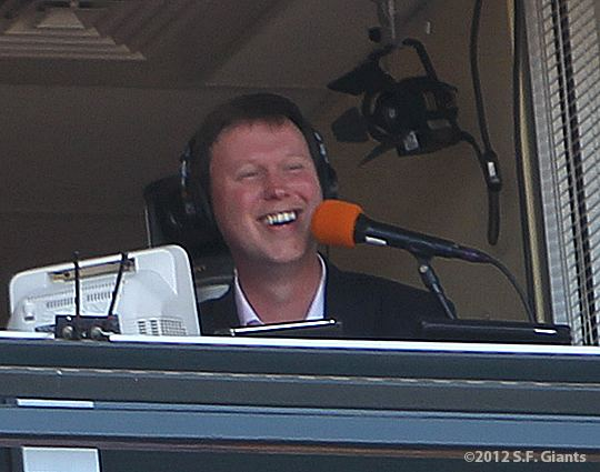 Dave Flemming Broadcasters Dave Flemming SF Giants Photos