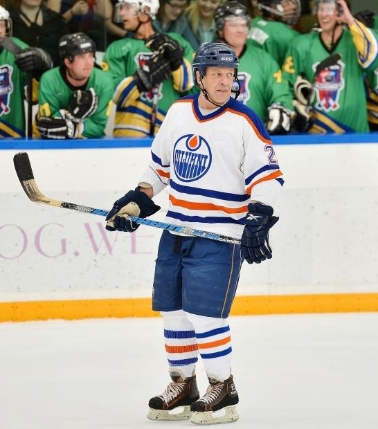 Dave Lumley Former Edmonton Oiler Dave Lumley in action as former NHL