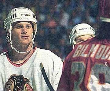 Dave Manson 198990 Dave Manson Chicago Blackhawks Game Worn Jersey