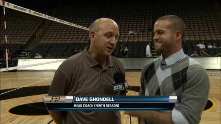 Dave Shondell Coach Dave Shondell Talks Purdue Volleyball Win BTN