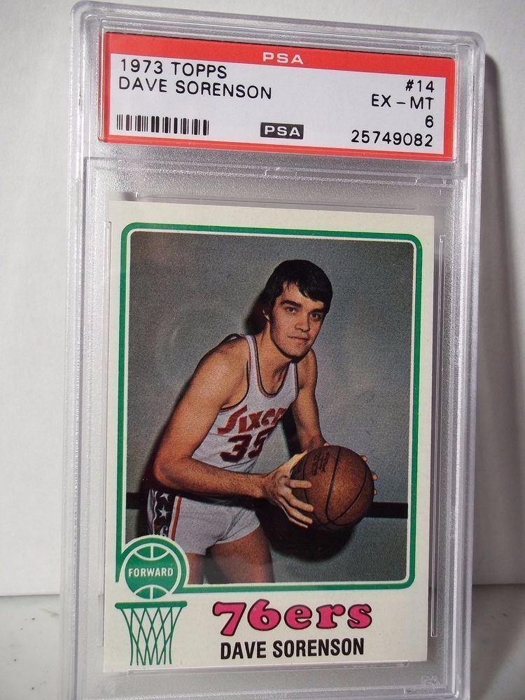 Dave Sorenson 1973 Topps Dave Sorenson PSA EXMT 6 Basketball Card 14 NBA