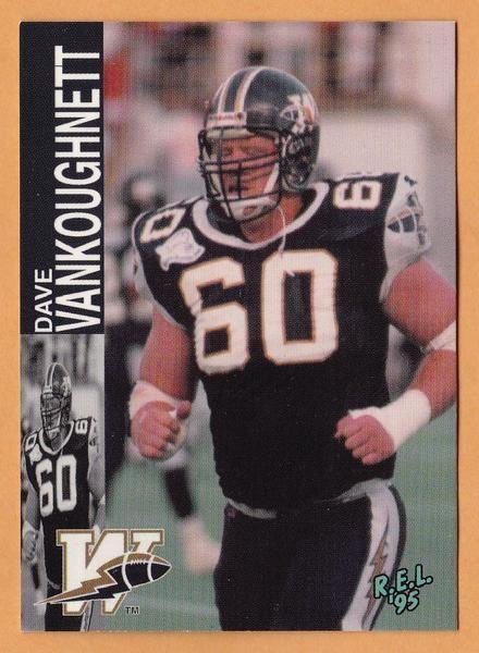 Dave Vankoughnett Dave Vankoughnett CFL card 1995 REL 219 Winnipeg Blue Bombers Boise