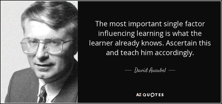 David Ausubel QUOTES BY DAVID AUSUBEL AZ Quotes