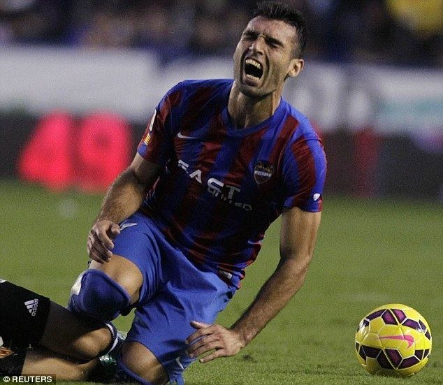 David Barral Levante forward David Barral accused of faking injury by