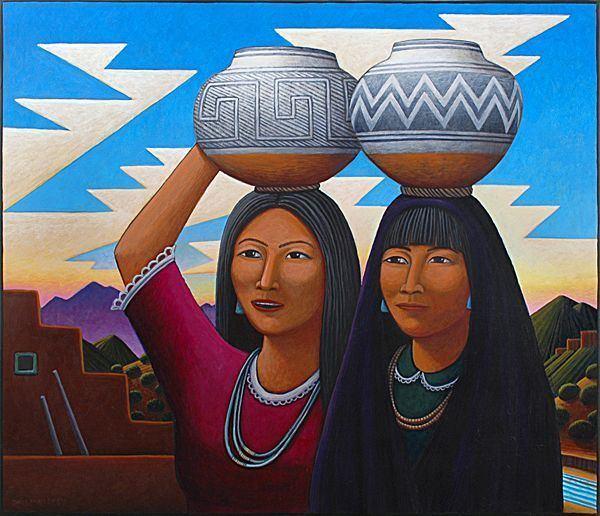 David Bradley (Native American artist) Pueblo Sisters by David Bradley Native American Art