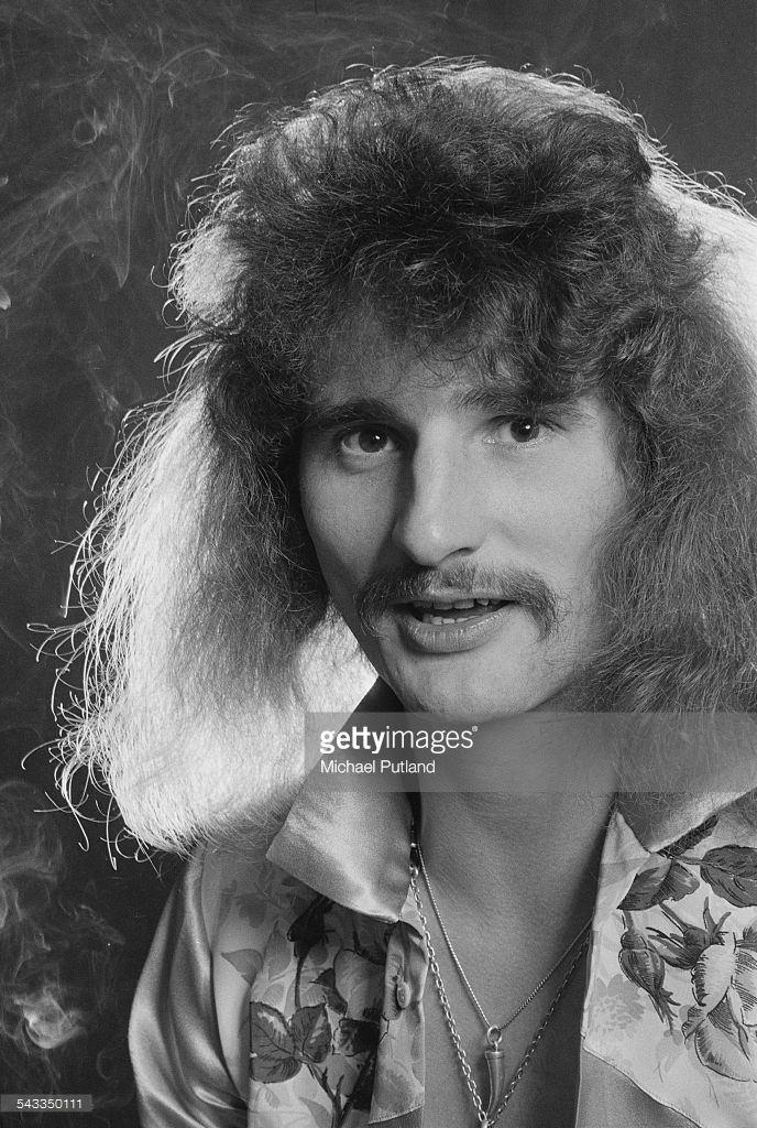 David Byron David Byron of British rock group Uriah Heep 13th March 1975