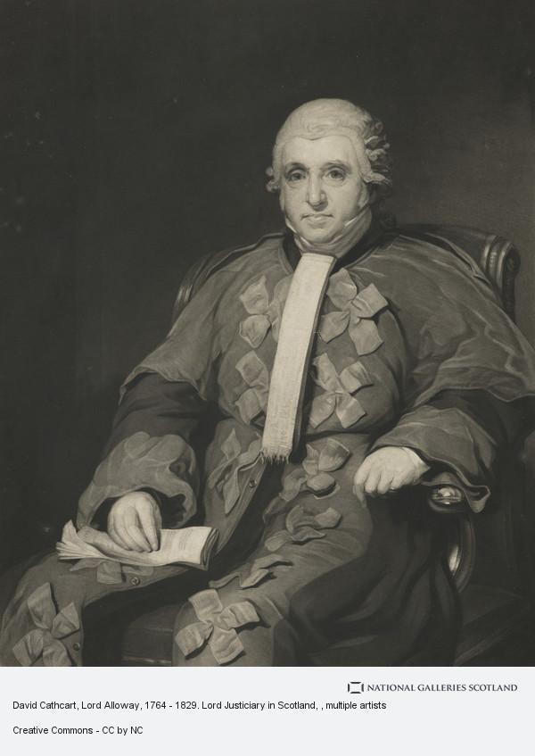 David Cathcart, Lord Alloway David Cathcart Lord Alloway 1764 1829 Lord Justiciary in