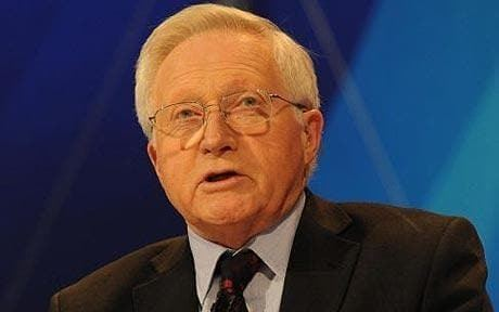 David Dimbleby David Dimbleby in hospital after bullock knocks him out