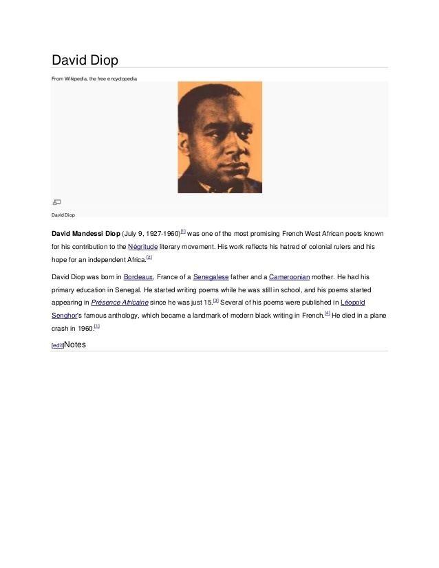 David Diop David diop
