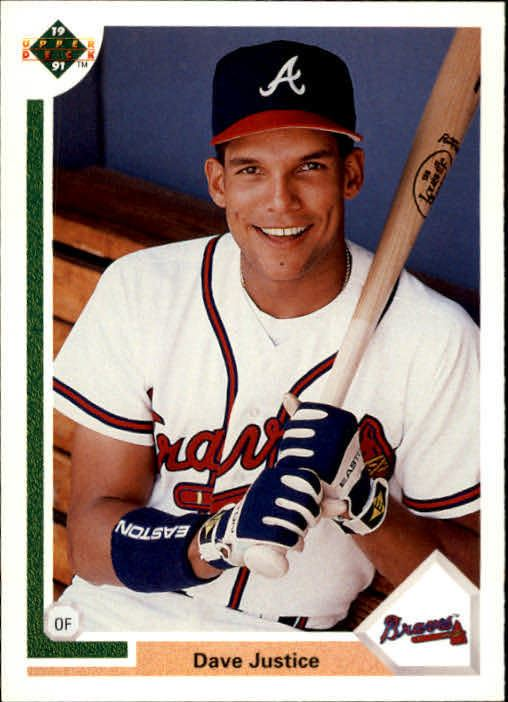 David Justice 1991 Upper Deck 363 David Justice NMMT Mac39s
