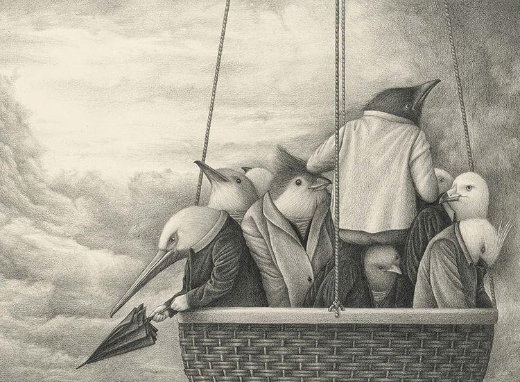David Álvarez (artist) The Black and White Anthropomorphic Illustrations of David lvarez