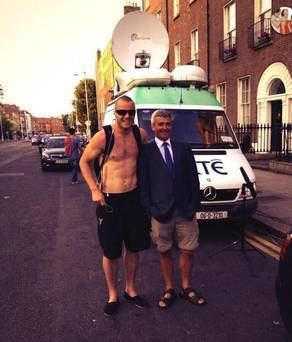 David McCullagh David in shorts What the RTE viewers couldn39t see