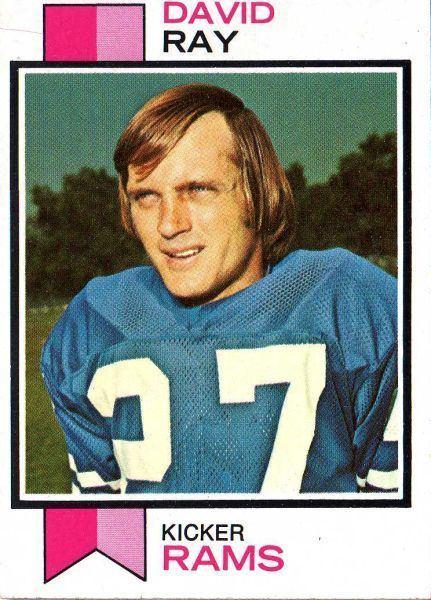 David Ray (American football) LOS ANGELES RAMS David Ray 244 RC TOPPS 1973 NFL American Football