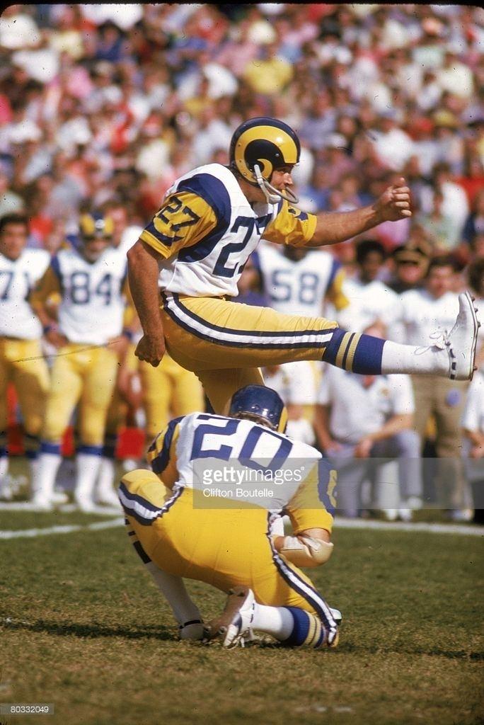 David Ray (American football) Kicker David Ray 27 of the Los Angeles Rams kicks a field goal