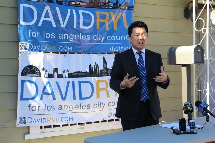 David Ryu LA city council candidate Ryu urges Korean Americans to register to