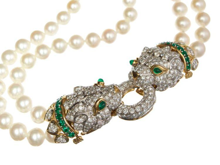 David Webb (jeweler) DoubleHeaded Lion Necklace The bold jewelry of David