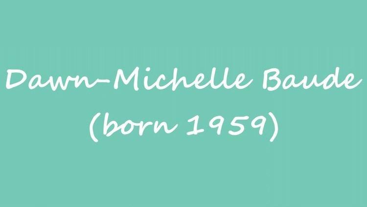 Dawn-Michelle Baude OBM Female poet DawnMichelle Baude born 1959 YouTube