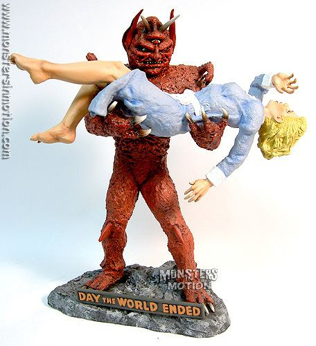 Day the World Ended Day The World Ended Mutant With Girl 16 Scale Model Kit