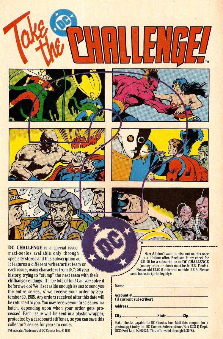 DC Challenge DC Histories The DC Challenge