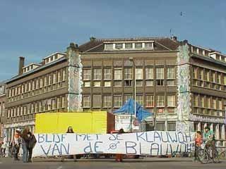 De Blauwe Aanslag Indymedia NL Nederland Video van actie voor Blauwe Aanslag 27sept