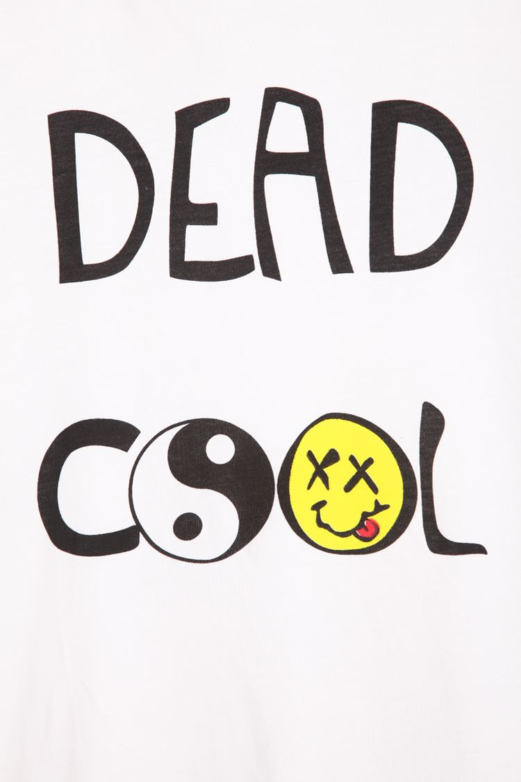 Dead Cool White Short Sleeve DEAD COOL Print TShirt SheInSheinside