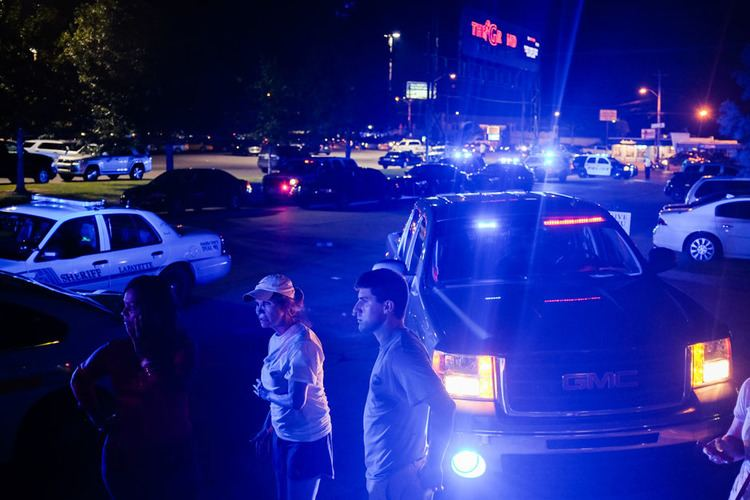 Dead Leaves movie scenes AP Photo Denny CulbertBystanders at the scene as emergency personnel respond to the deadly shooting at the Grand Theatre in Lafayette La Thursday night