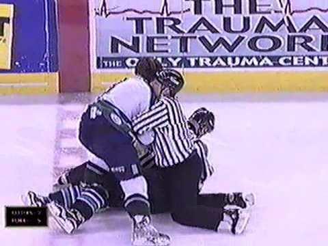 Dean Mayrand UHL Dean Mayrand vs George Cantrall Feb 21 2001 YouTube