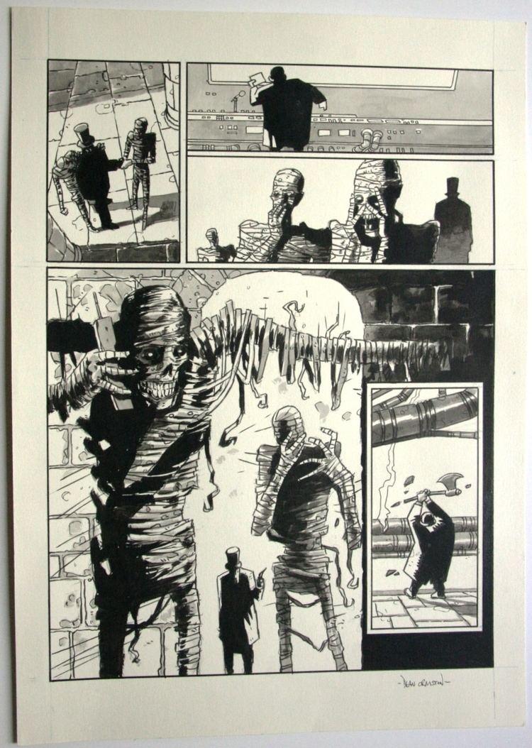 Dean Ormston Art of Comics original art by dean ormston