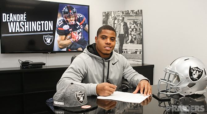 DeAndré Washington Raiders Sign FifthRound Pick RB DeAndr Washington