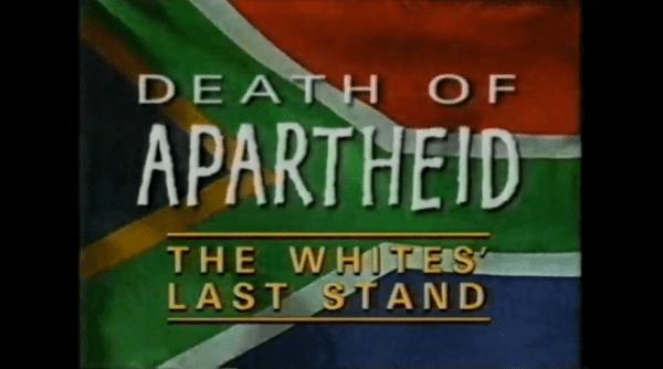 Death of Apartheid STUDIO83 News Death of Apartheid The Whites Last Stand