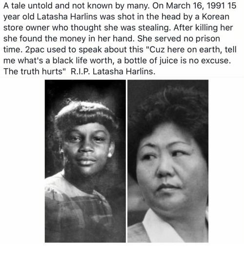 Death of Latasha Harlins A Tale Untold and Not Known by Many on March 16 1991 15 Year Old