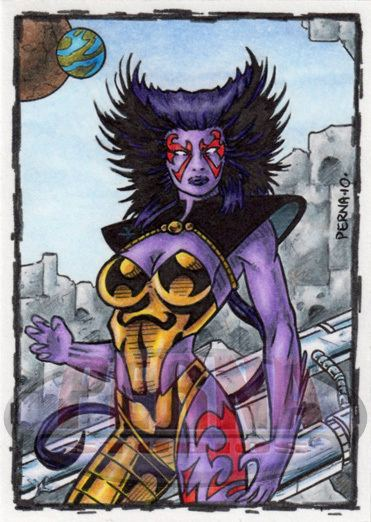 Deathcry Deathcry by Tony Perna Sketch Card produced for Cryptozoic