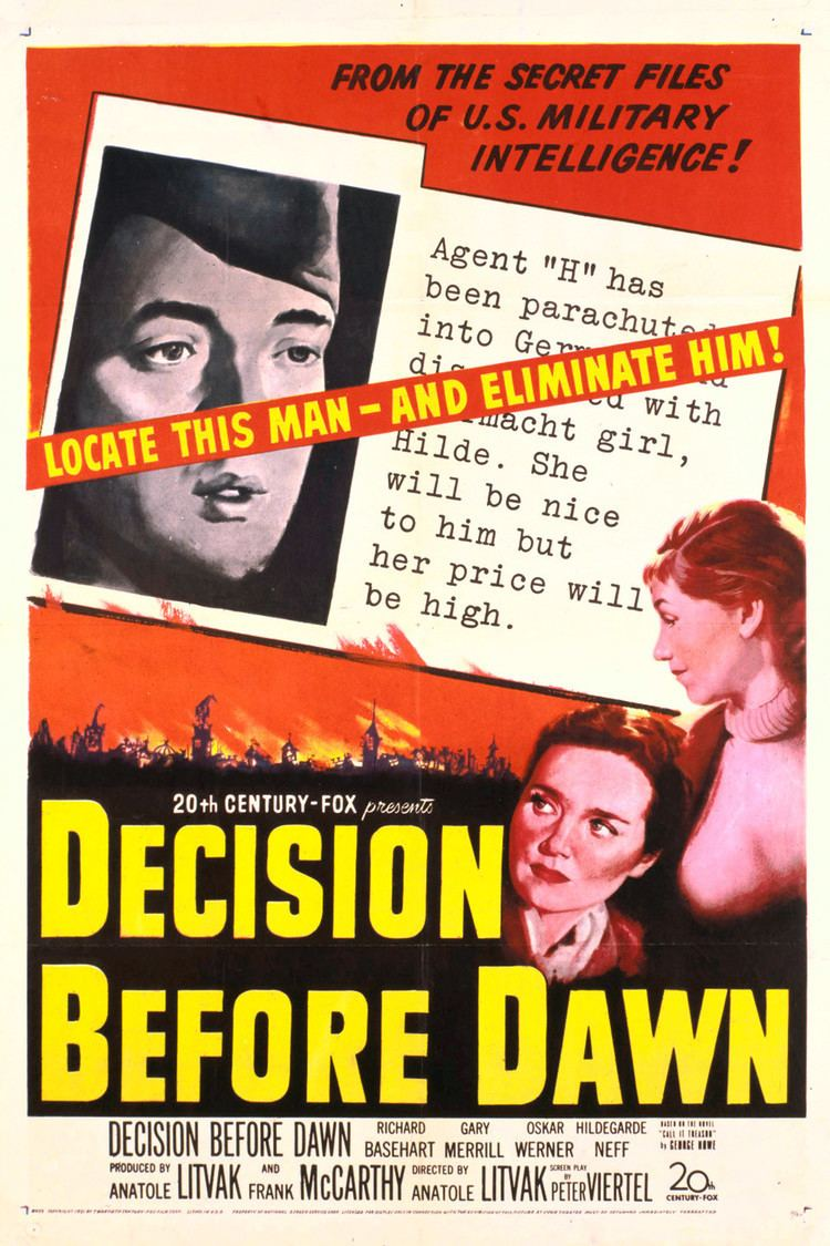 Decision Before Dawn wwwgstaticcomtvthumbmovieposters6656p6656p
