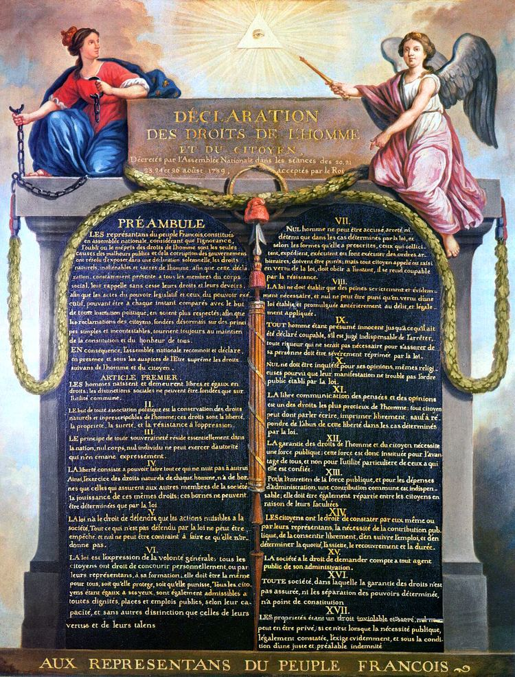 Declaration of the Rights of Man and of the Citizen httpsuploadwikimediaorgwikipediacommons66