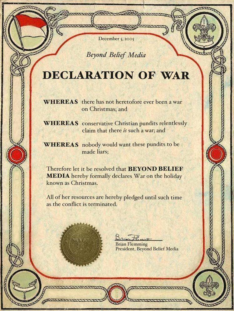 Declaration of war Declaration Of War